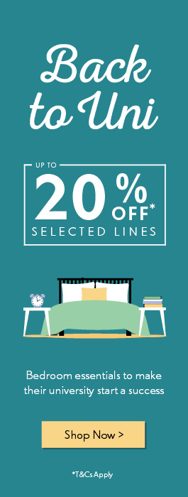Back to Uni | Up to 20% off