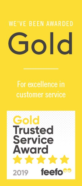 Gold Trusted Service Award for excellence in customer service 2019