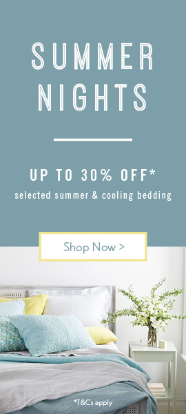 Summer nights are here | Up to 30% off cooling & summer bedding
