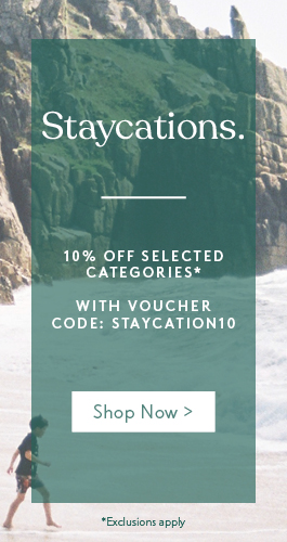 Prepare for staycations this year with 10% off selected categories
