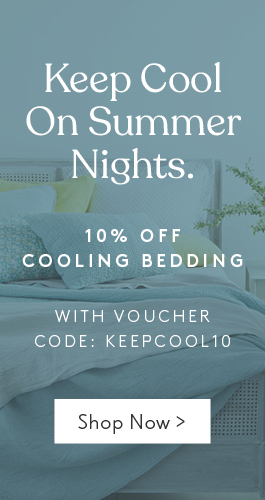 Keep cool at night this summer with 10% off cooling bedding