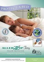 Protect a Bed AllerZip Waterproof Terry Pillow Protectors