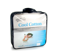 Cool Cotton Filled Duvet 3 Tog 100% Natural