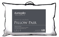 Dunlopillo Soft As Down Pillow Pair
