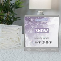 Protect A Bed Snow Nordic Chill Fitted Skirt Mattress Protector