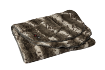 HoMedics Heated Massaging Fur Shawl Blanket