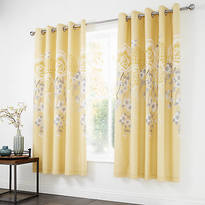 Catherine Lansfield Oriental Blossom Curtains