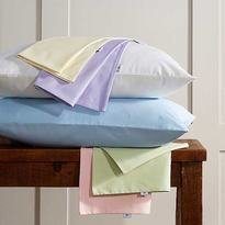 Vantona 100% Cotton Plain Dye Housewife Pillowcase Pair