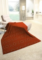 Biederlack Burnt Orange Throw Blanket Sevilla Dolores