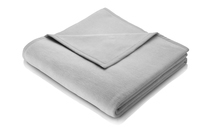 Biederlack Silver Grey Blanket Throw Sevilla