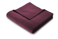 Biederlack Plum Purple Blanket Throw Sevilla