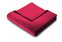 Biederlack Flame Red Blanket Throw Sevilla