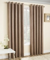 Latte Thermal Curtains Blockout Eyelet Vogue