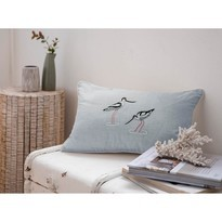 Sophie Allport Coastal Birds Cushion 30x50 Sea Blue