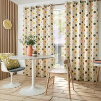 Orla Kiely Spot Flower Summer Eyelet Curtains