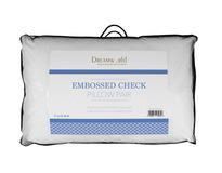 Dreamworld Embossed Check Luxury Pillow Pair