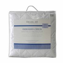 Deep Mattress Protector Dreamworld Embossed Check