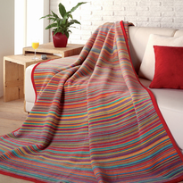 Ibena Malang Striped Jacquard Throw Blanket