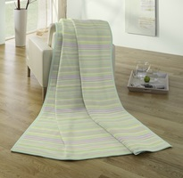 Biederlack Blanket Throw Pastel Striped