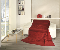 Biederlack Red Blanket Throw Venetian Botanic
