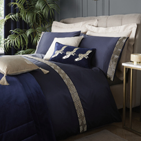 Laurence Llewelyn-Bowen Riva Duvet Cover Set Navy Double