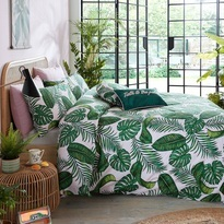 SkinnyDip Dominica Palm Print Duvet Cover Set