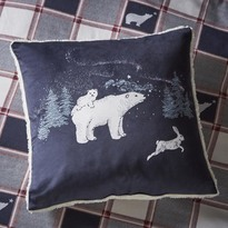 Fat Face Polar Bear Midnight Cushion