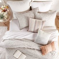 Peri Home Clipped Floral Textured Duvet Cover Super King