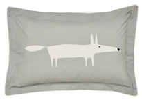 Scion Mr Fox Silver Oxford Pillowcase