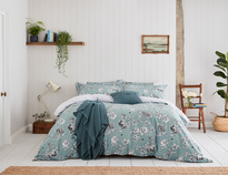 Joules Imogen Blue Bedding Set Super King