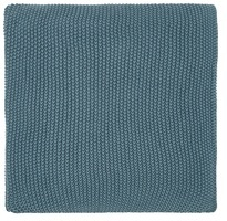 Joules Moss Stitch Teal Knitted Throw
