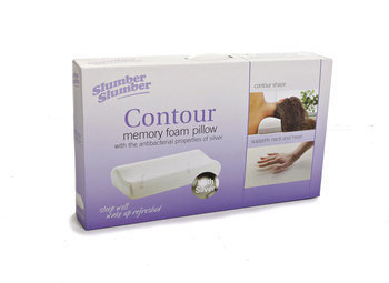 Contour Memory Foam Pillow with Silver