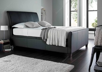Kaydian Allendale Ottoman Storage Bed Frame black bonded leather