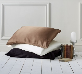 photo of Mulberry Silk Pillowcase 100% 19 momme, Chocolate