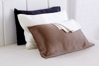 photo of Mulberry Silk Pillowcase 100% 19 momme, Ivory