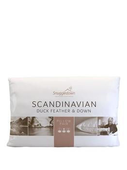 photo of Snuggledown Scandinavian Duck Feather And Down Pillow Pair