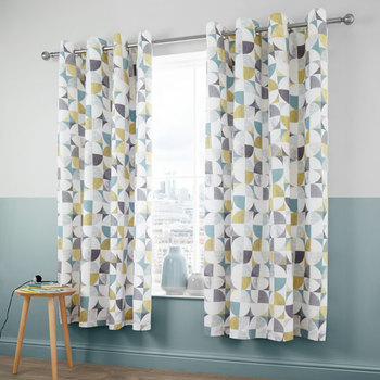 photo of Catherine Lansfield Retro Circles Curtains