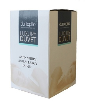Dunlopillo Satin Stripe Anti Allergy Duvet 13.5 Tog