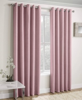 Blush Pink Thermal Curtains Blockout Eyelet Vogue