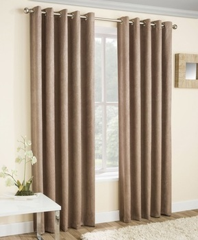 photo of Latte Thermal Curtains Blockout Eyelet Vogue