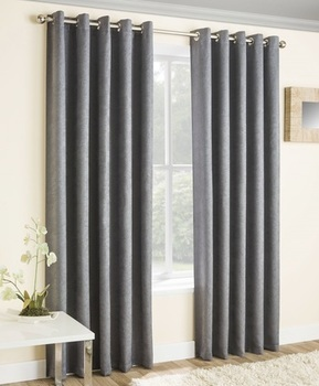 photo of Grey Thermal Curtains Blockout Eyelet Vogue