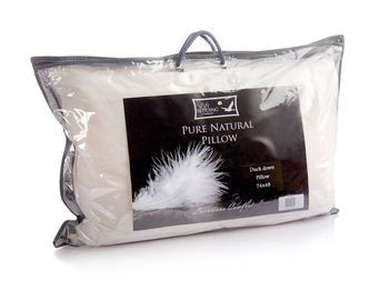 White Duck Down Pillow The Soft Bedding Company