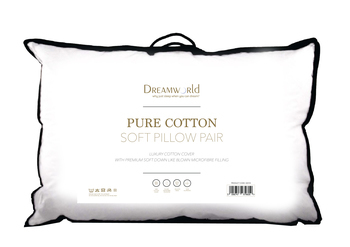 Dreamworld Pure Cotton Soft Pillow Pair