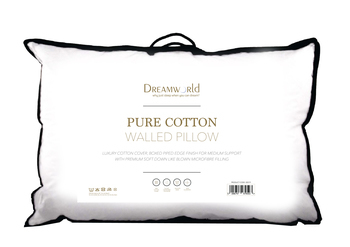 Dreamworld Pure Cotton Walled Pillow