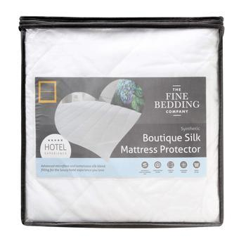 Fine Bedding Co Boutique Silk Mattress Protector