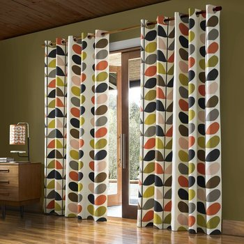 Orla Kiely Multi Stem Curtains Multi Eyelet
