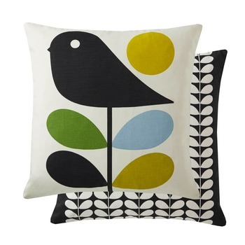 Orla Kiely Cushion Early Bird Duck Egg