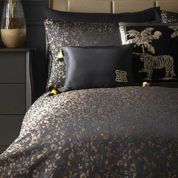 Laurence Llewelyn Bowen Roar Duvet Set Black & Gold Double