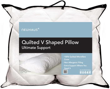 Neuhaus Quilted V Shaped Pillow Ultimate Support
