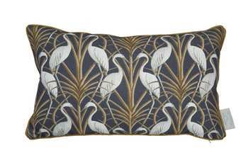 Angel Strawbridge Cushion Nouveau Heron Navy 30x50cm